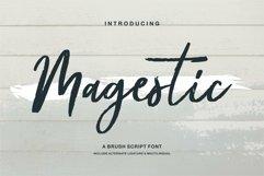 Web Font Magestic - A Brush Script Font Product Image 1