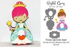 Princess Easter egg holder design SVG / DXF / EPS files. Product Image 1