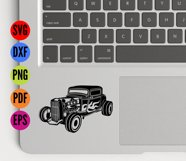 HotRod Classic Truck  SVG Cutting File  Product Image 4