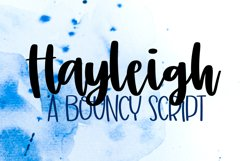 Hayleigh - A Simple Hand Lettered Script Product Image 1