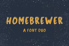 Homebrewer Sans and Outline Font Duo Product Image 1