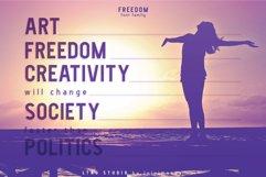 FREEDOM font family Product Image 4