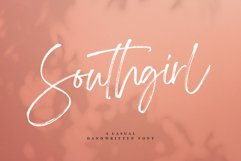 Southgirl Handwritten Font Product Image 1