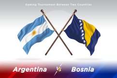 Argentina vs Bosnia and Herzegovina Two Flags Product Image 1