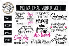 Motivational Quote Bundle | 10 SVG or Sublimation Designs Product Image 1