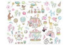 Circus clip art, Carneval illustrations, animal circus image Product Image 3