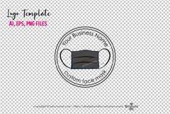 business logo template, face mask logo design Product Image 3