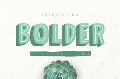 Bolder Typeface Product Image 1