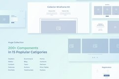 Collector Wireframe Web Kit Product Image 2