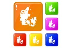 Holland icons set vector color Product Image 1