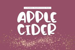 Apple Cider - A Bubbly Handwritten Font Product Image 1