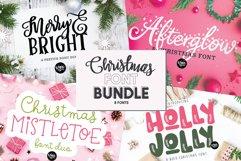CHRISTMAS FONT BUNDLE - 4 Hand Lettered Christmas Fonts Product Image 1