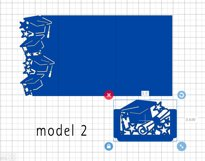 Graduation invitation template, Graduation 2021 svg Product Image 5