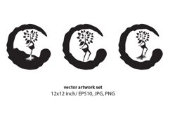 Female Tree - VECTOR ARTWORK SET Product Image 1