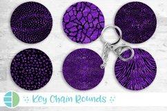 Animal Print Black and Purple Glitter Keychain Bundle Key Product Image 1