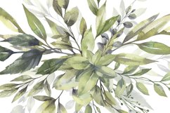 Watercolor Greenery Bouquets Clipart Product Image 5