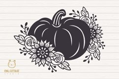 Floral Pumpkin svg, Halloween Floral Decor, Fall svg Product Image 2