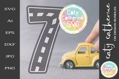 Road Map Kids Birthday Number Seven SVG Cut File Product Image 1