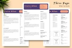 Creative Resume CV Template for Word & Pages Claire Allen Product Image 4
