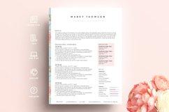 creative resume template word / floral feminine Product Image 4