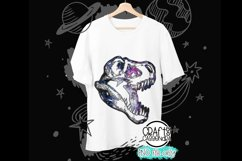 Sublimation design - T-rex Dinosaurs - Galaxy Outer space Product Image 1