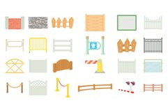 Barrier icon set, cartoon style Product Image 1