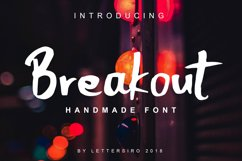 Breakout Natural Font Product Image 1