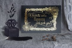 Floral Scribble Frames - Single line Designs  Foil Quill Product Image 3