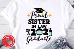 Proud Sister in Law 2021Graduate shirt svg Face mask art Product Image 1