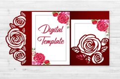 Rose wedding invitation template, Svg files for cricut Product Image 3