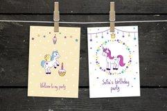 Unicorns vector set and alphabet bonus Product Image 4