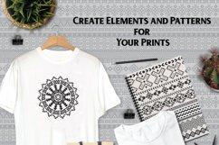 80 Tribal Pattern Brushes for Adobe Illustrator Product Image 6