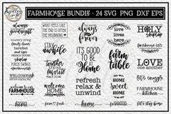 Farmhouse Bundle | 24 Rustic Farmhouse SVG Designs Product Image 2