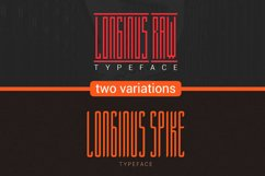 Longinus Typeface with two variations Product Image 1