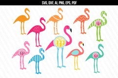 Flamingo svg dxf cutting files Product Image 1