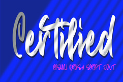 Web Font Certified - Casual Brush Script Font Product Image 1