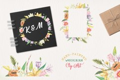 Spring Frames Floral Watercolors Pastel Cute Border Foliage Product Image 2