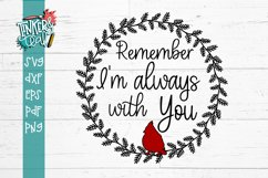 Remember I'm Always With You Cardinal Memorial SVG Product Image 2