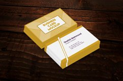 Realistic Business Card Mockups on a wooden background Product Image 1