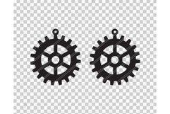 Gears earrings svg,Steampunk earrings,Guy catcher earrings Product Image 2