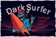 Dark surfer - vintage label font Product Image 1