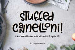 Stuffed Cannelloni - a deliciously fun font! Product Image 1