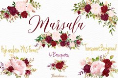 Watercolor Marsala and Blush Bundle for Weddings Product Image 3