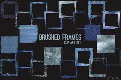 Blue Brush Stroke Square Frames Product Image 2