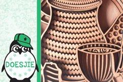 Tea cup tea pot 3D layered svg tea mandala Product Image 6