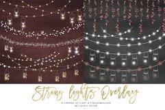 String Lights Clipart, Mason jar Chalkboard Party Lights Product Image 3