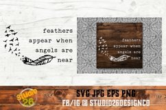 Feathers appear when Angels are near - SVG PNG EPS Product Image 1