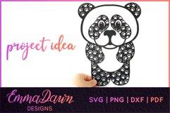 PRIMROSE THE PANDA SVG MANDALA / ZENTANGLE 3 DESIGNS Product Image 9