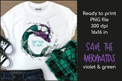 Polluted Mermaid T-shirt Design, Mermaid Sublimation PNG Product Image 1