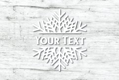 Snowflake SVG | Split Monogram SVG Product Image 6